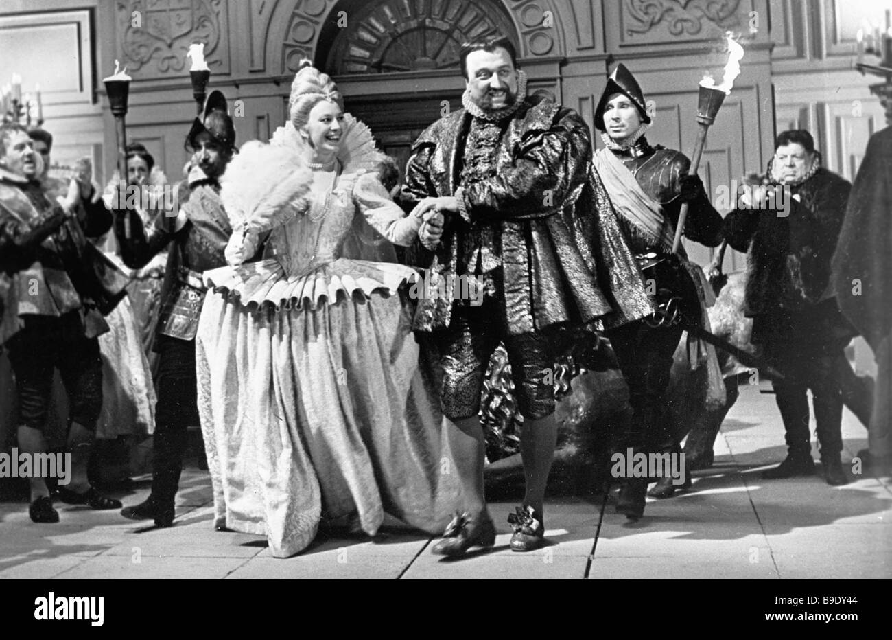 Scene from the film Hamlet by director Grigory Kozintsev - Stock Image
