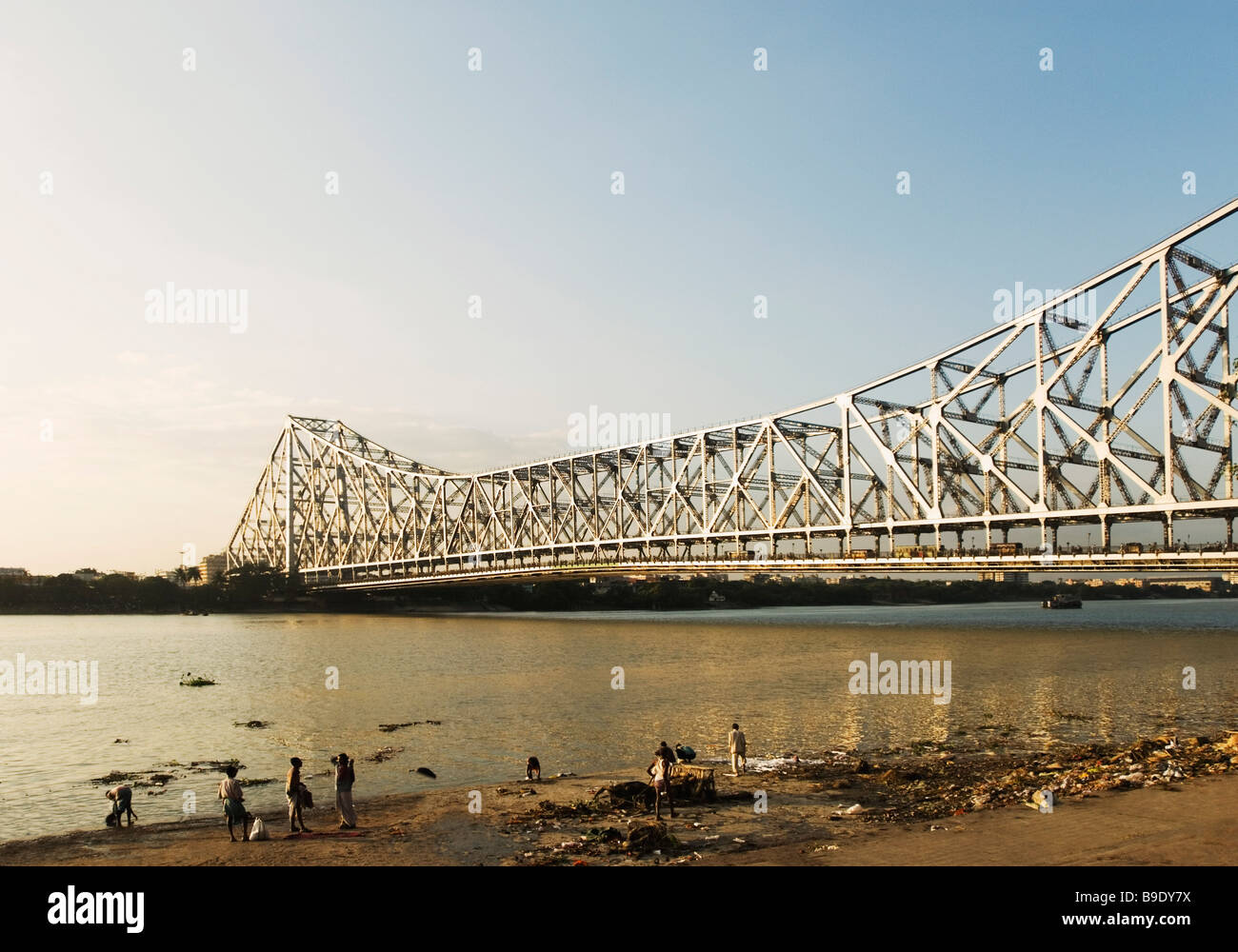 Bridge across a river howrah bridge hooghly river calcutta west bengal