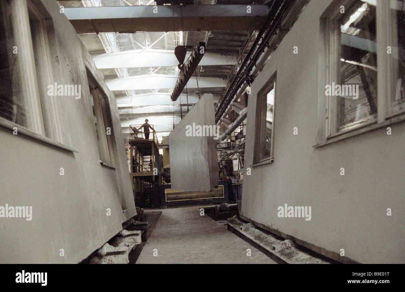 Panels used for the assembly of building carcasses - Stock Image