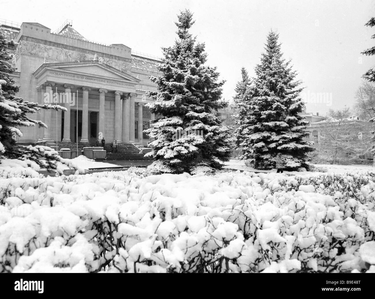 Alexander Pushkin Museum of Fine Arts - Stock Image