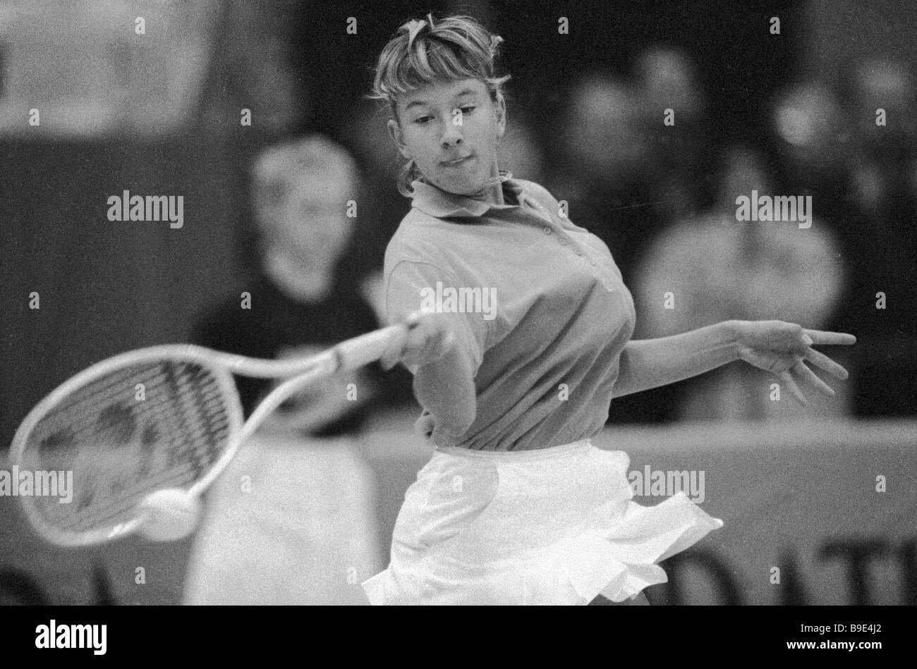 Tennis player Natalia Zvereva - Stock Image