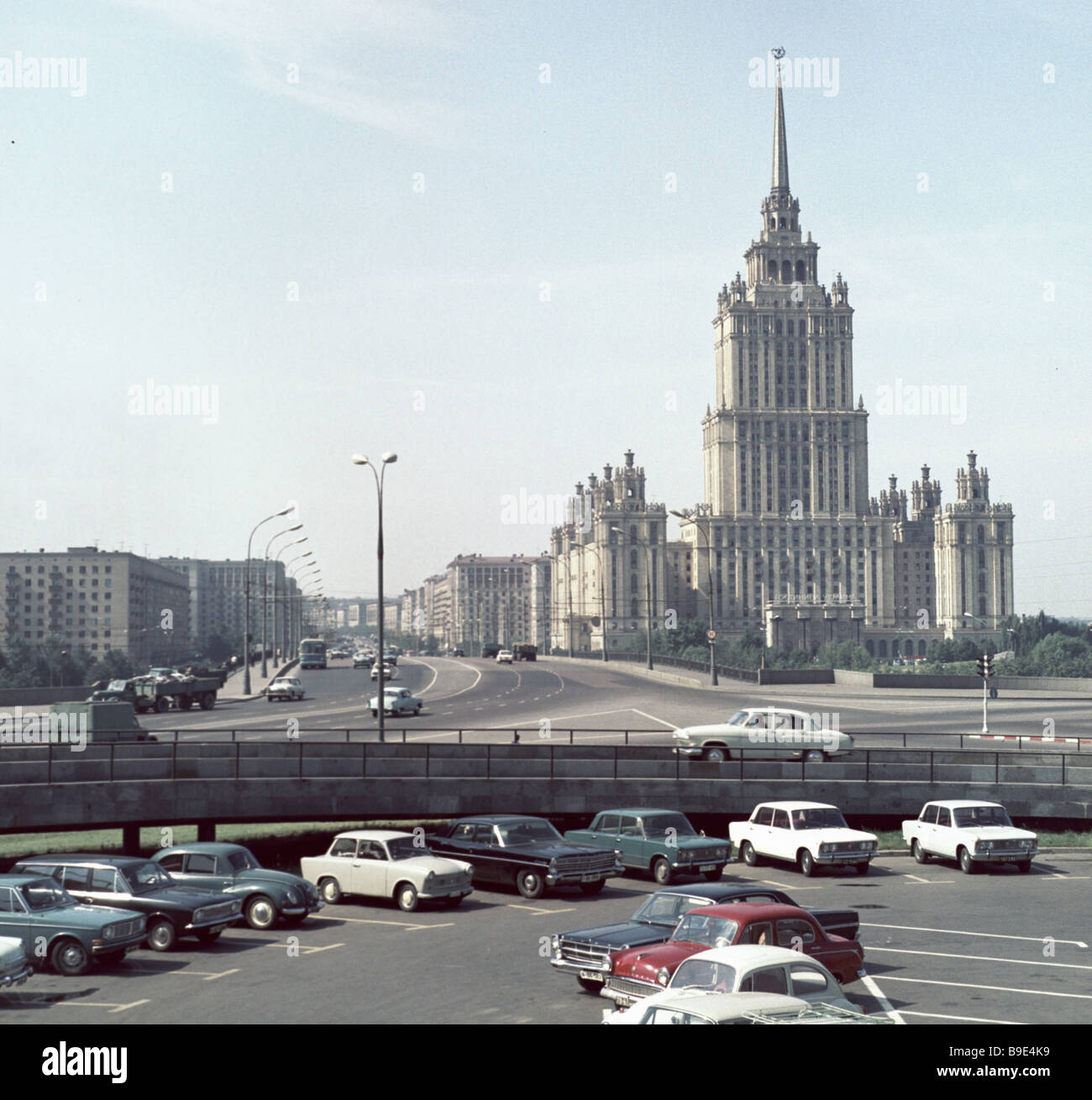 The Ukraine Hotel the Kutuzov Avenue in Moscow - Stock Image