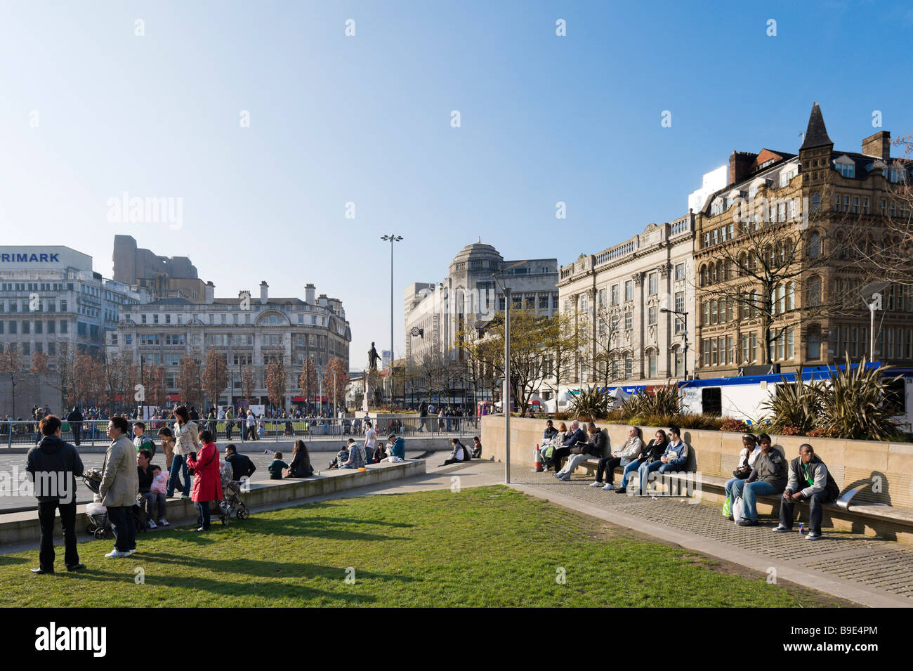 Piccadilly Gardens in the city centre, Manchester, England Stock Photo