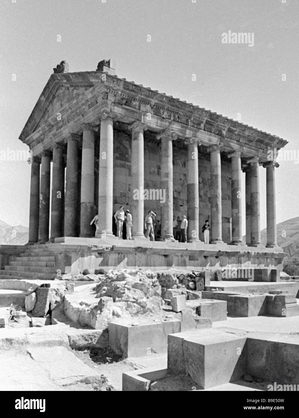 Garni Temple 1st century BC Reconstructed in 1975 - Stock Image