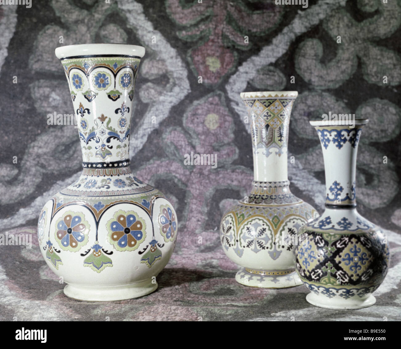Glazed vases from the collection of the State Museum of Oriental Arts - Stock Image
