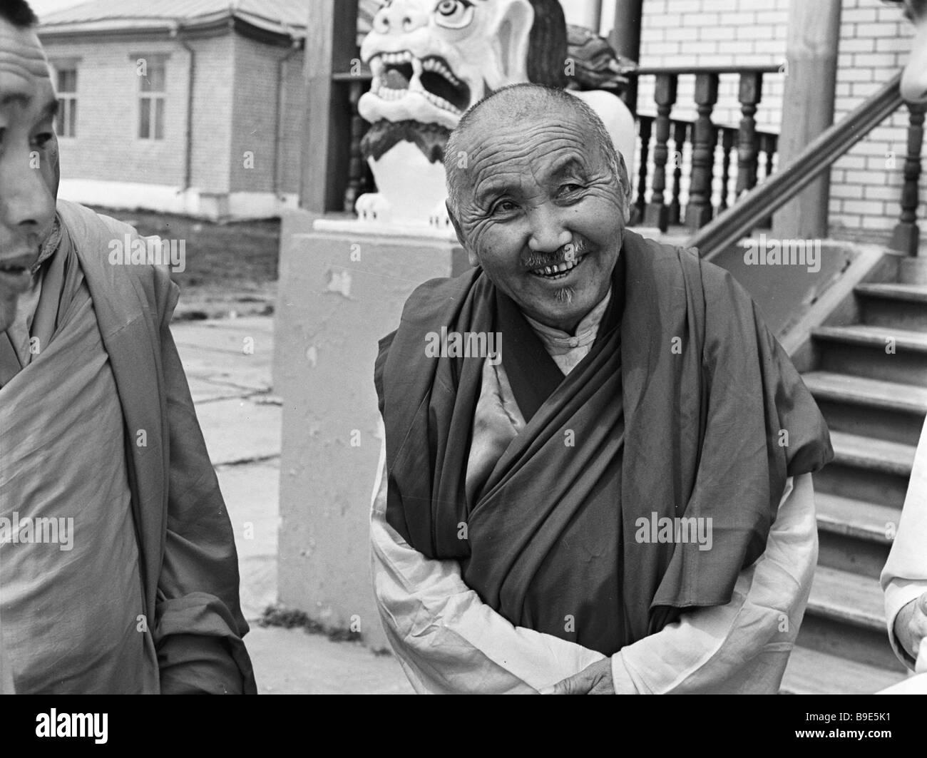 Did Khamba lama Erdyneyev deputy chairman of the USSR Central Religious Board of Buddhists - Stock Image