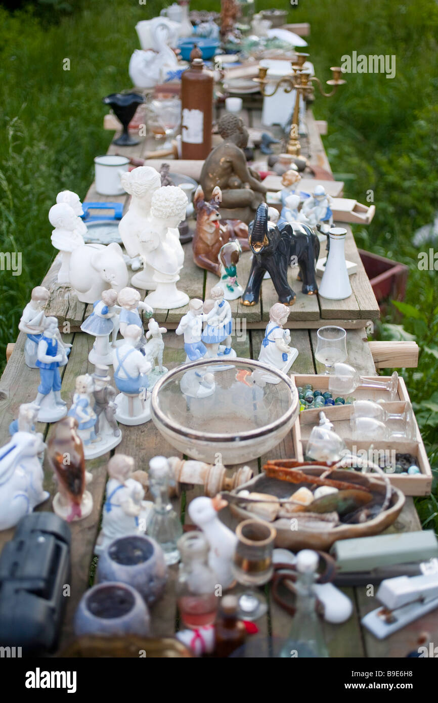 Denmark Zealand Møn island antique shop - Stock Image