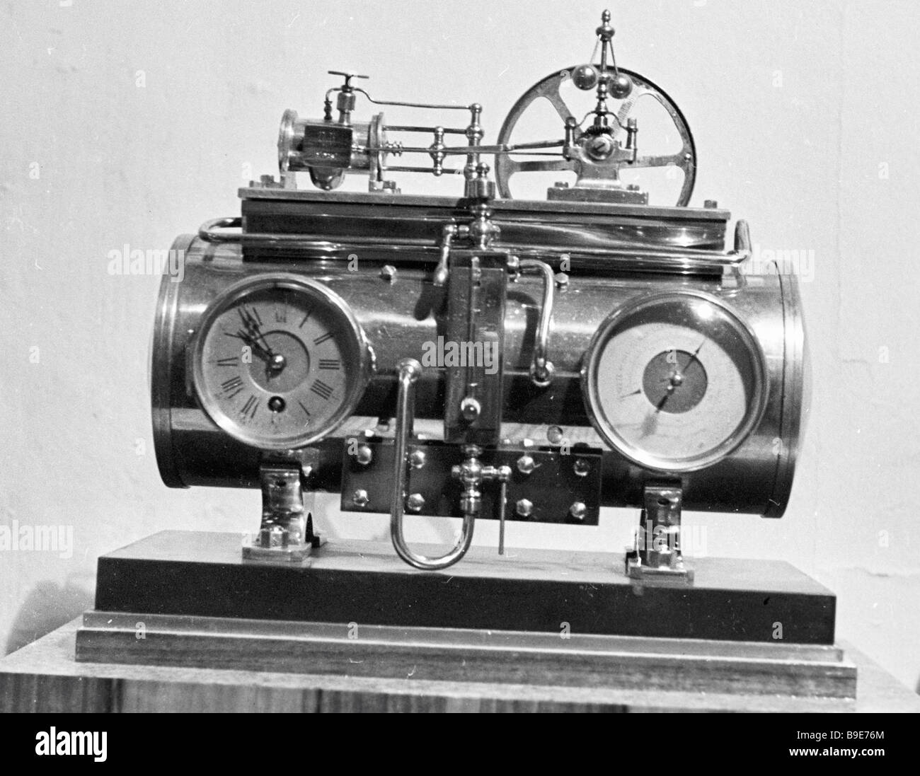 Unique clock Steam Boiler from the collection of Angarsk resident P ...