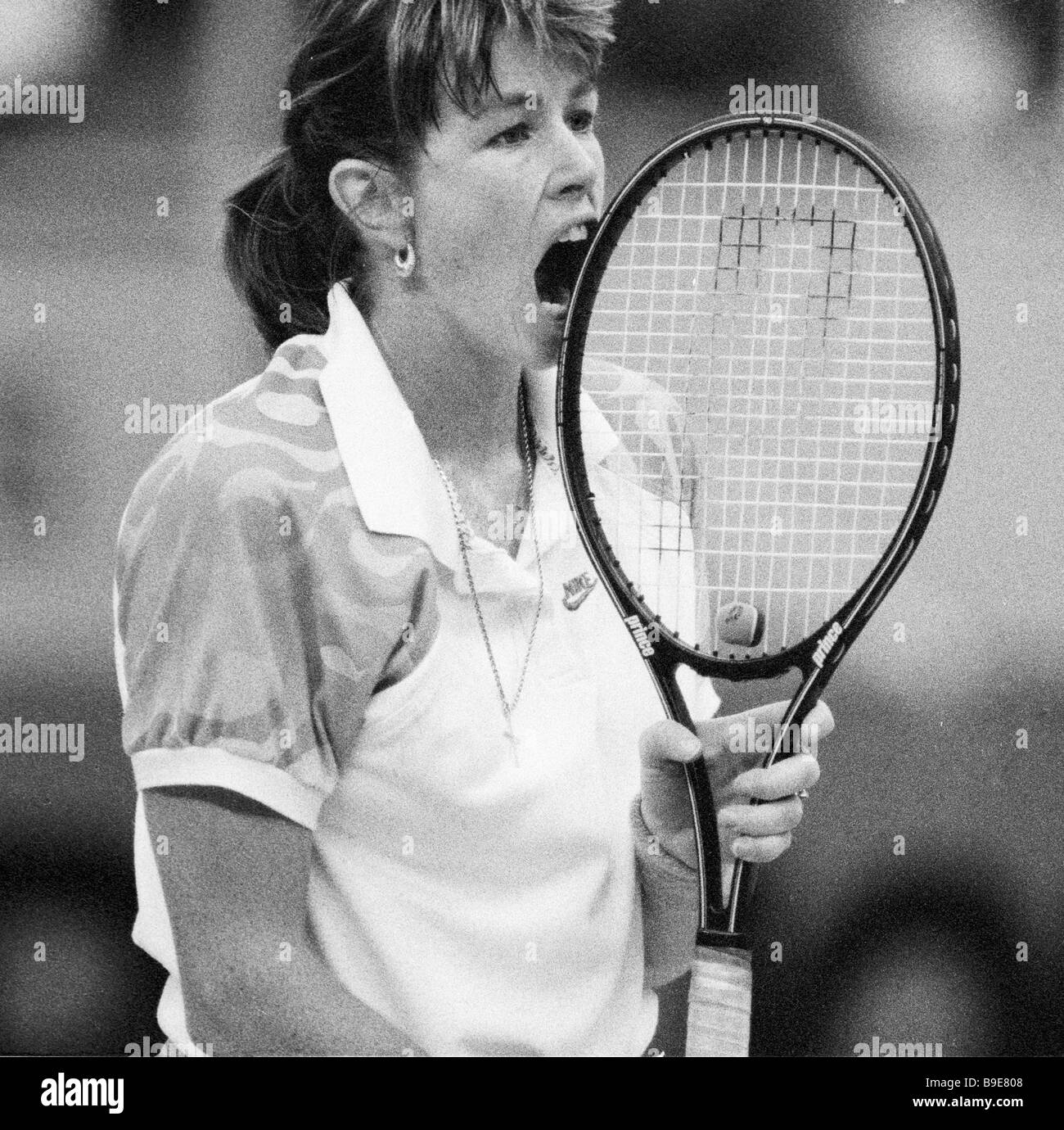 Tennis player Gretchen Magers at the I International Tournament for Virginia Slims series Stock Photo