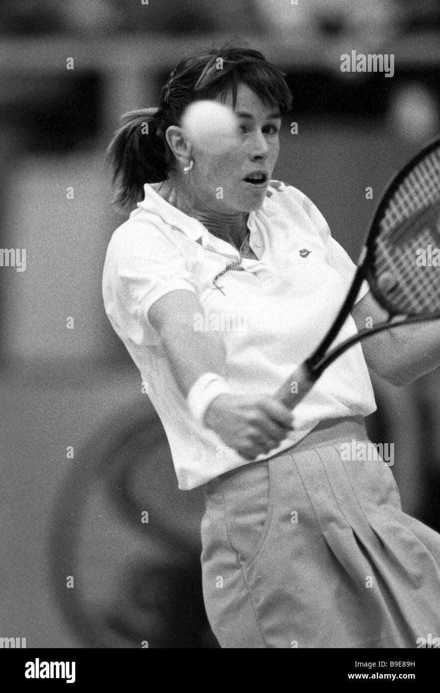 Gretchen Rush Magers USA during the First International Virginia Slims Tennis Tournament Stock Photo