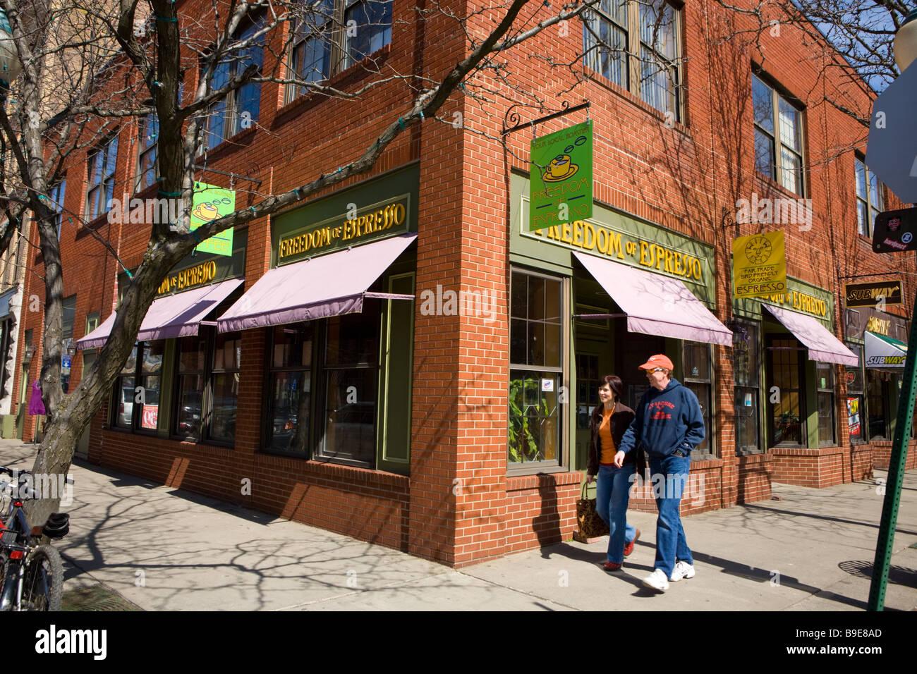 Armory Square neighborhood Syracuse New York - Stock Image