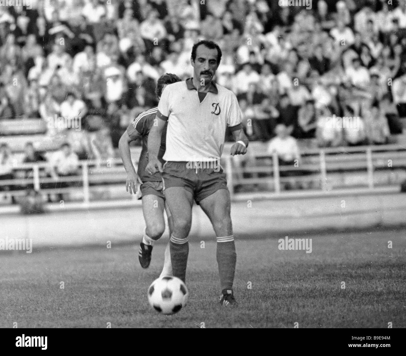 Dinamo Tbilisi forward David Kipiani leads the ball - Stock Image