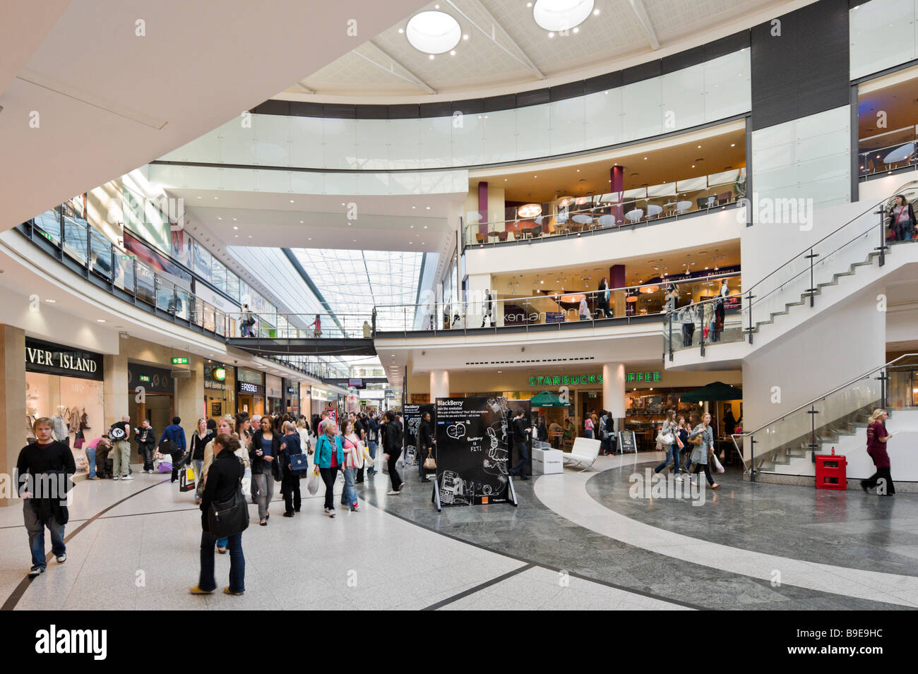 Shops and stores in the Arndale Centre, Manchester, England - Stock Image