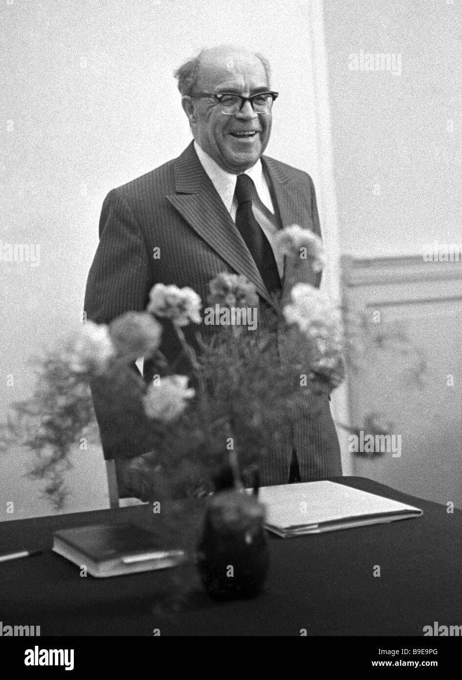The USSR Academy of Sciences corresponding member a founder of Russian Africanology Dmitry Olderogge 1903 1987 - Stock Image