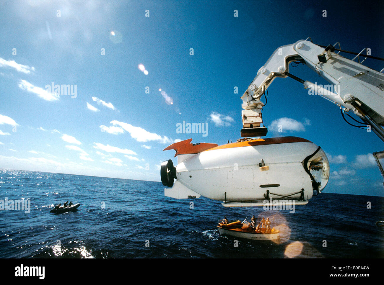 The state of the art Mir deep sea submersibles can dive to 6 000 meters and reach 99 of the World Ocean s bottom - Stock Image