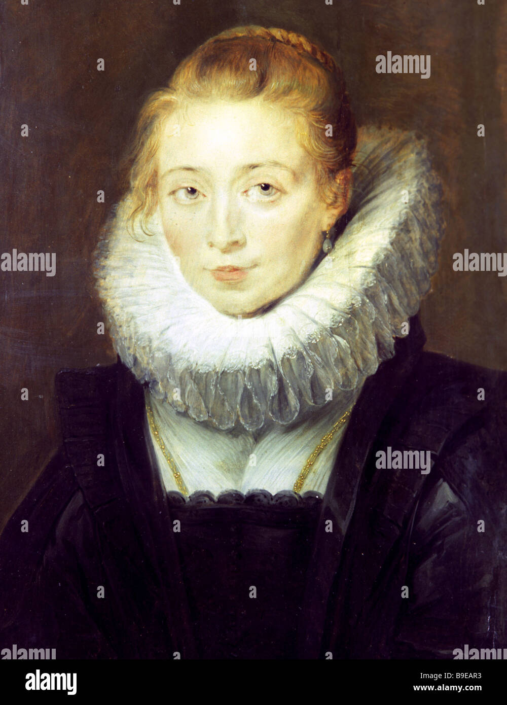 Peter Paul Rubens 1577 1640 Portrait of a Chambermaid of Infanta Isabella C 1625 Oil on wood State Hermitage Museum - Stock Image