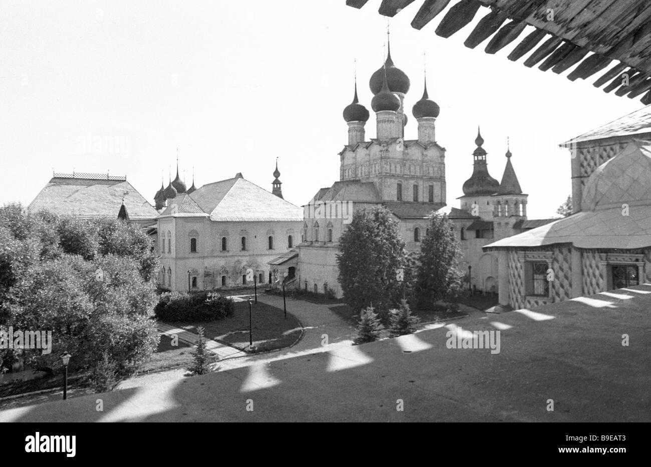 Rostov Kremlin of the second half of 17th century - Stock Image