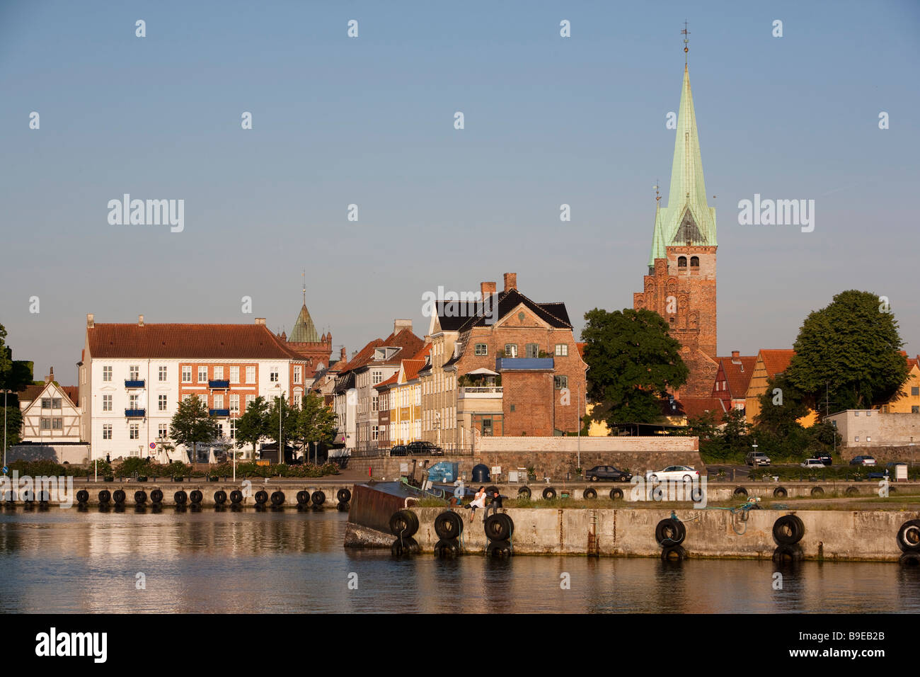 Denmark Zealand Helsingør view from the port - Stock Image