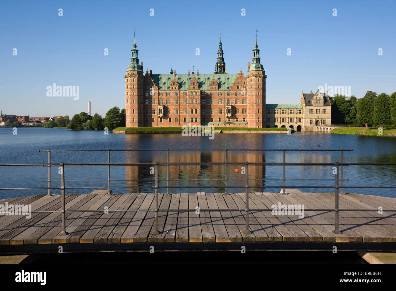 Frederiksborg castle Hillerød Zealand Denmark - Stock Image