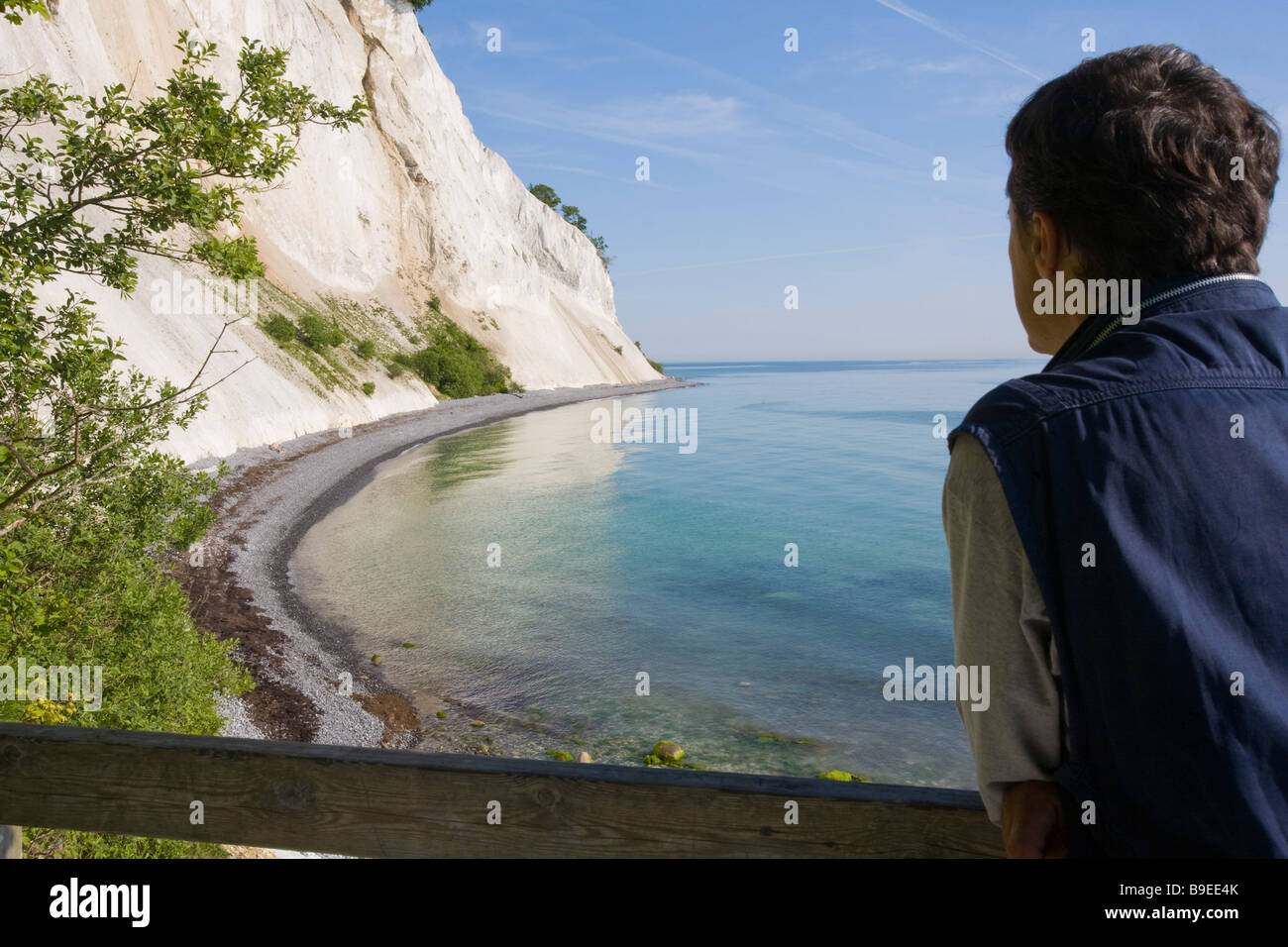 Denmark Zealand Møn island Møns Klint Stock Photo