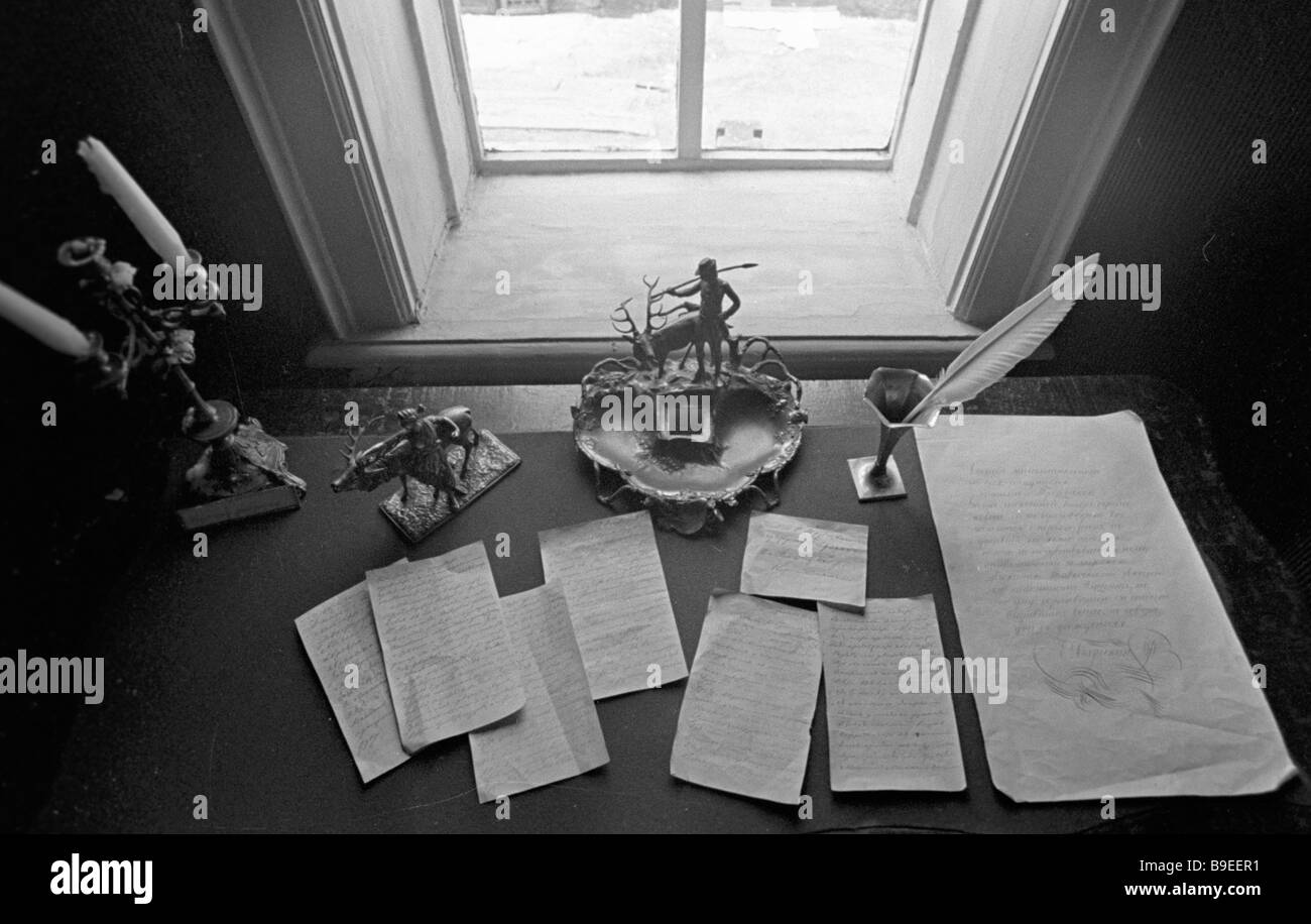 Letters written by Prince Sergey Trubetskoy the Decembrist museum - Stock Image