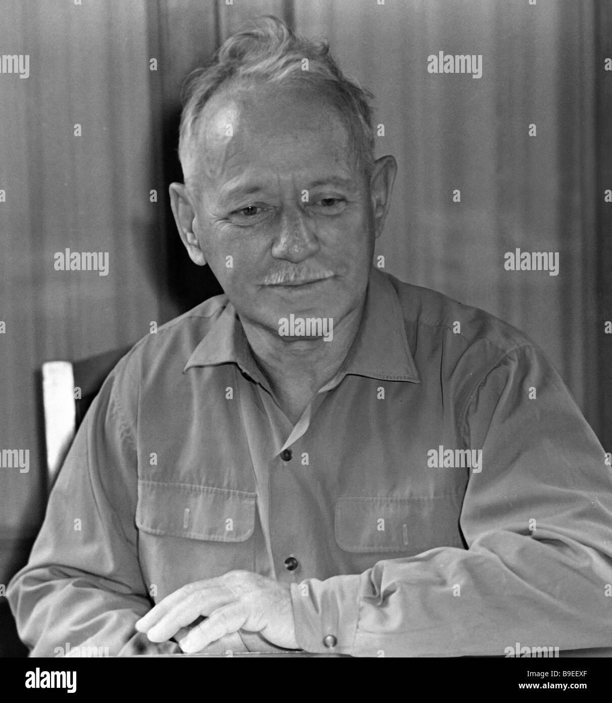 Writer Mikhail Sholokhov Stock Photo