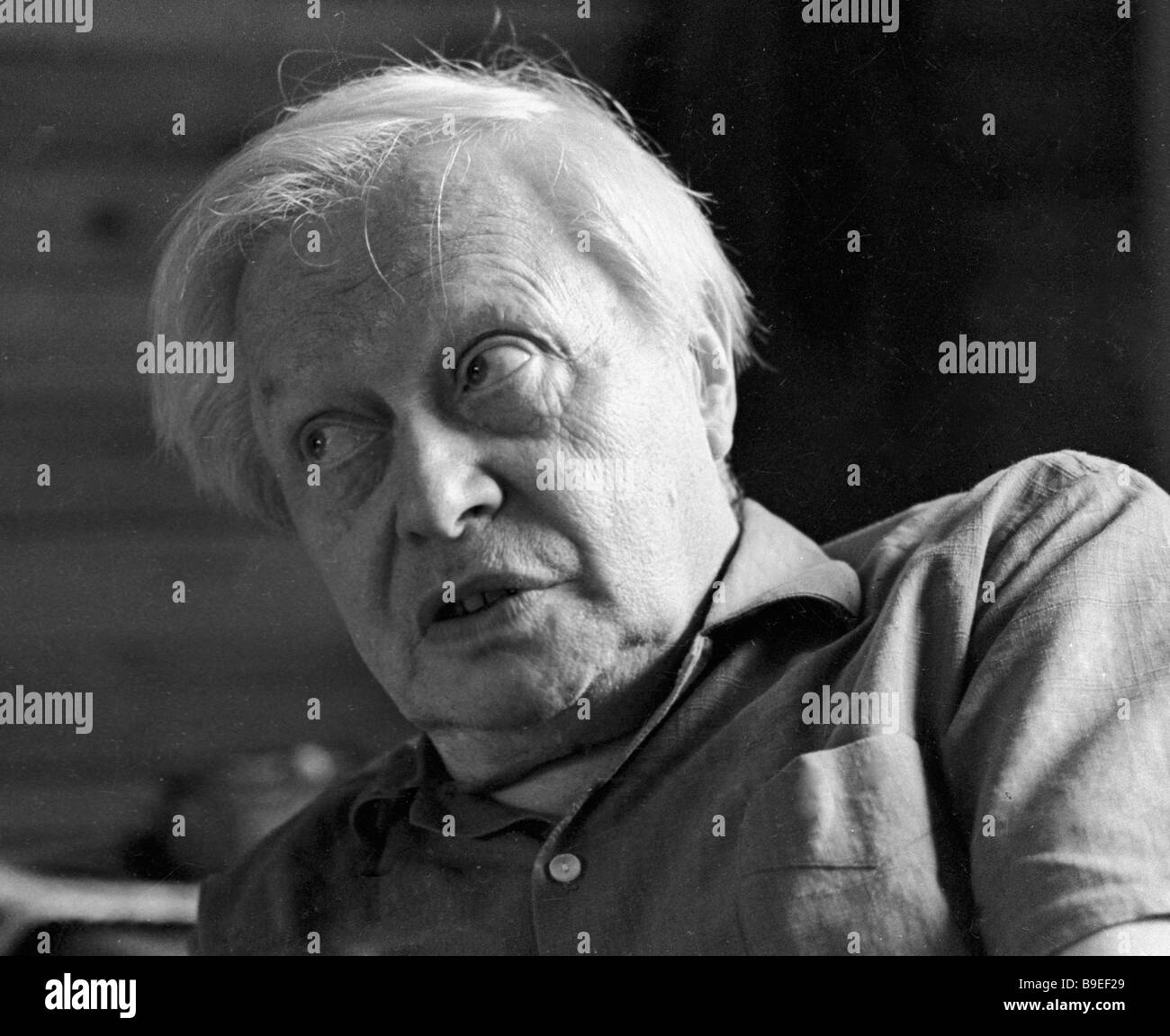 USSR People s Artist Sergei Obraztsov the director of the Central Puppet Theater - Stock Image