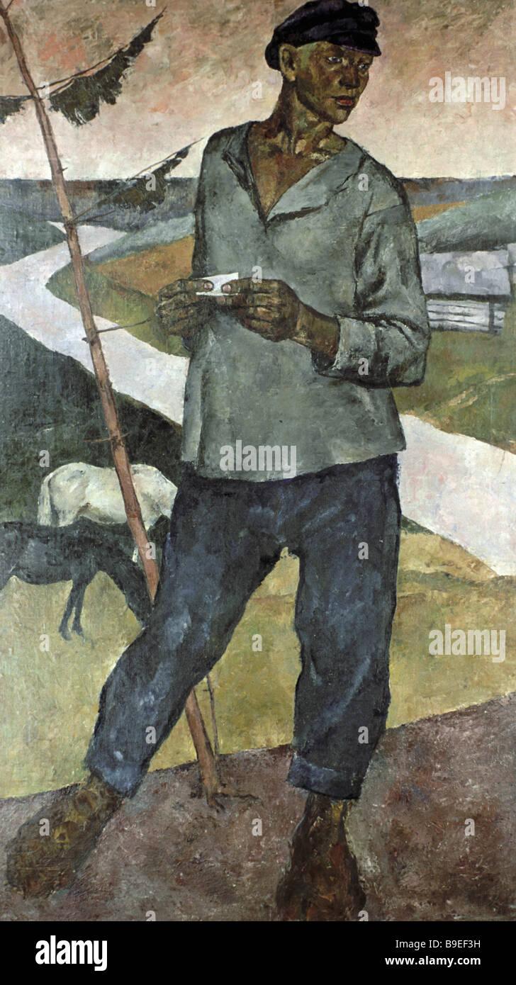 Dementy Shmarinov Shepherd State Tretyakov Gallery Moscow - Stock Image
