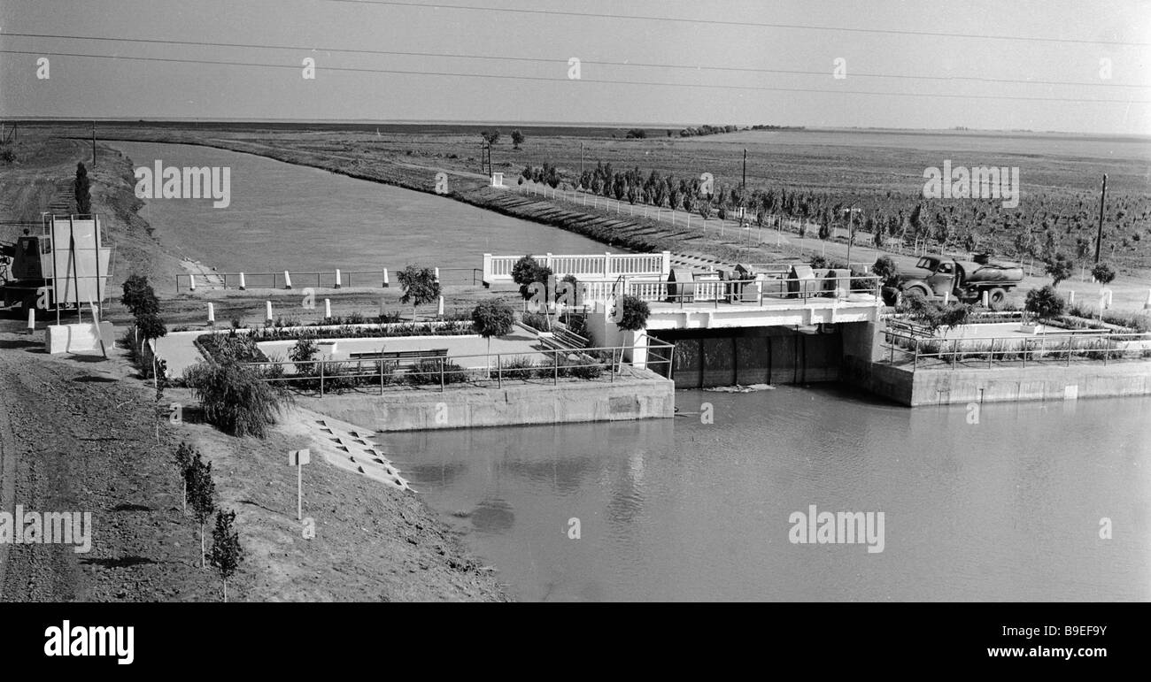 North Crimean canal - Stock Image