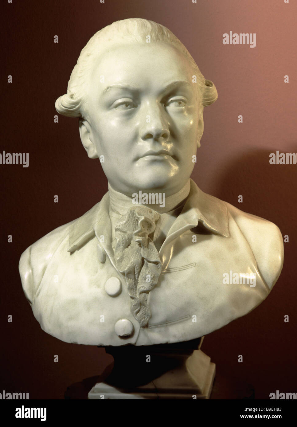 The sculptural portrait The Unknown Man by Fedot Shubin from the Tretyakov State Gallery collection - Stock Image