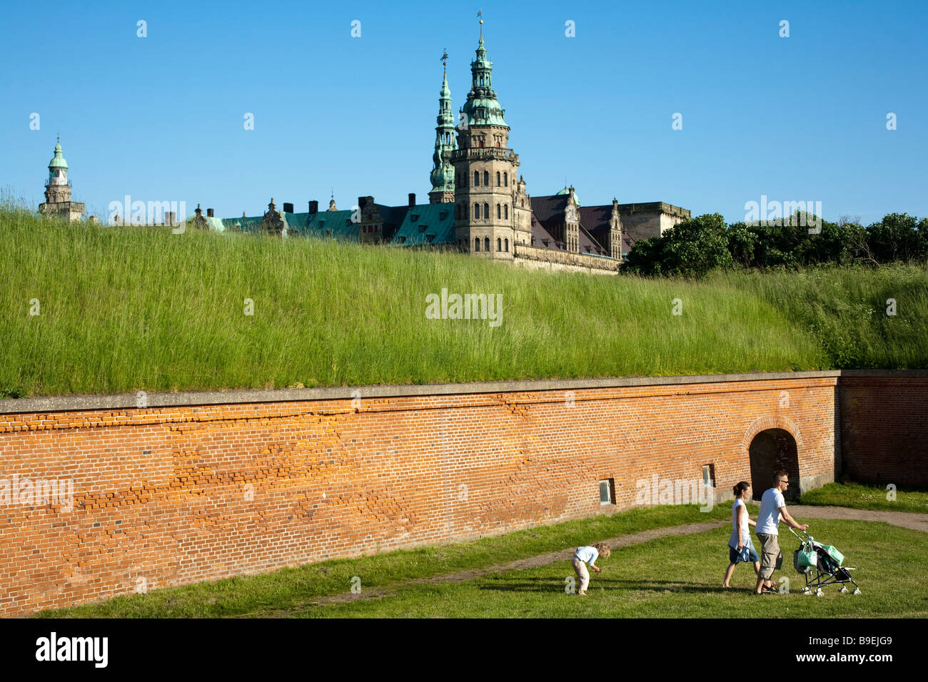 Kronborg castle Helsingor Zealand Denmark Stock Photo