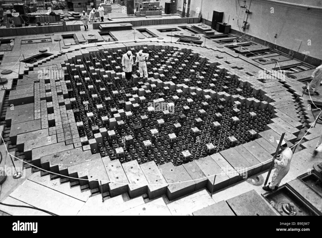 Nuclear Reactor Power Plant Black and White Stock Photos