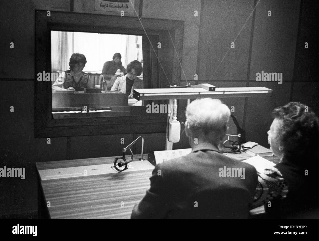 Broadcasting radio programs for the GDR audience - Stock Image