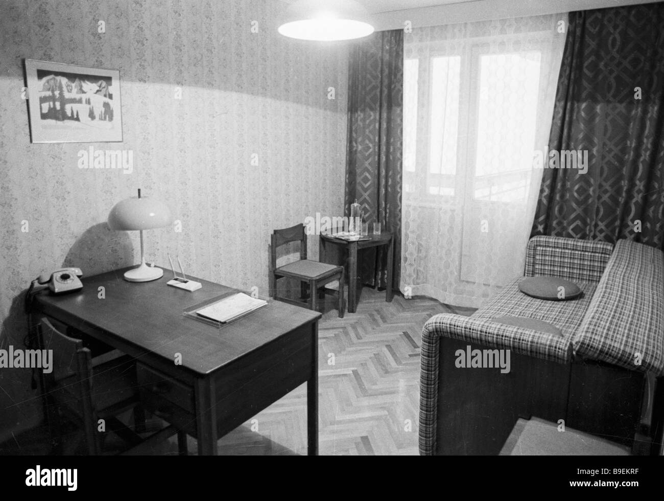 Olympic village room occupied by sportsmen - Stock Image