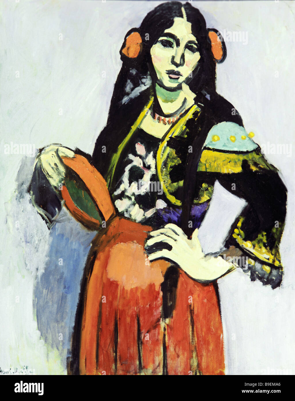 Spanish Woman with A Tambourine by Henri Matisse 1869 1954 reproduction - Stock Image