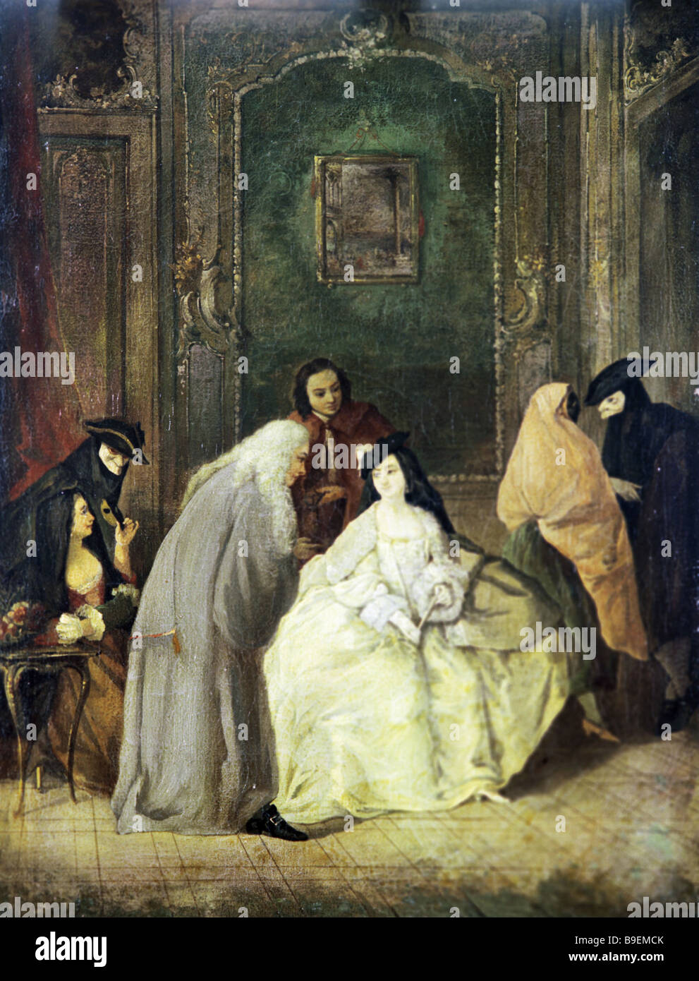 Unknown artist Pontius Pilatus and Wife Pushkin State Fine Arts Museum Moscow - Stock Image