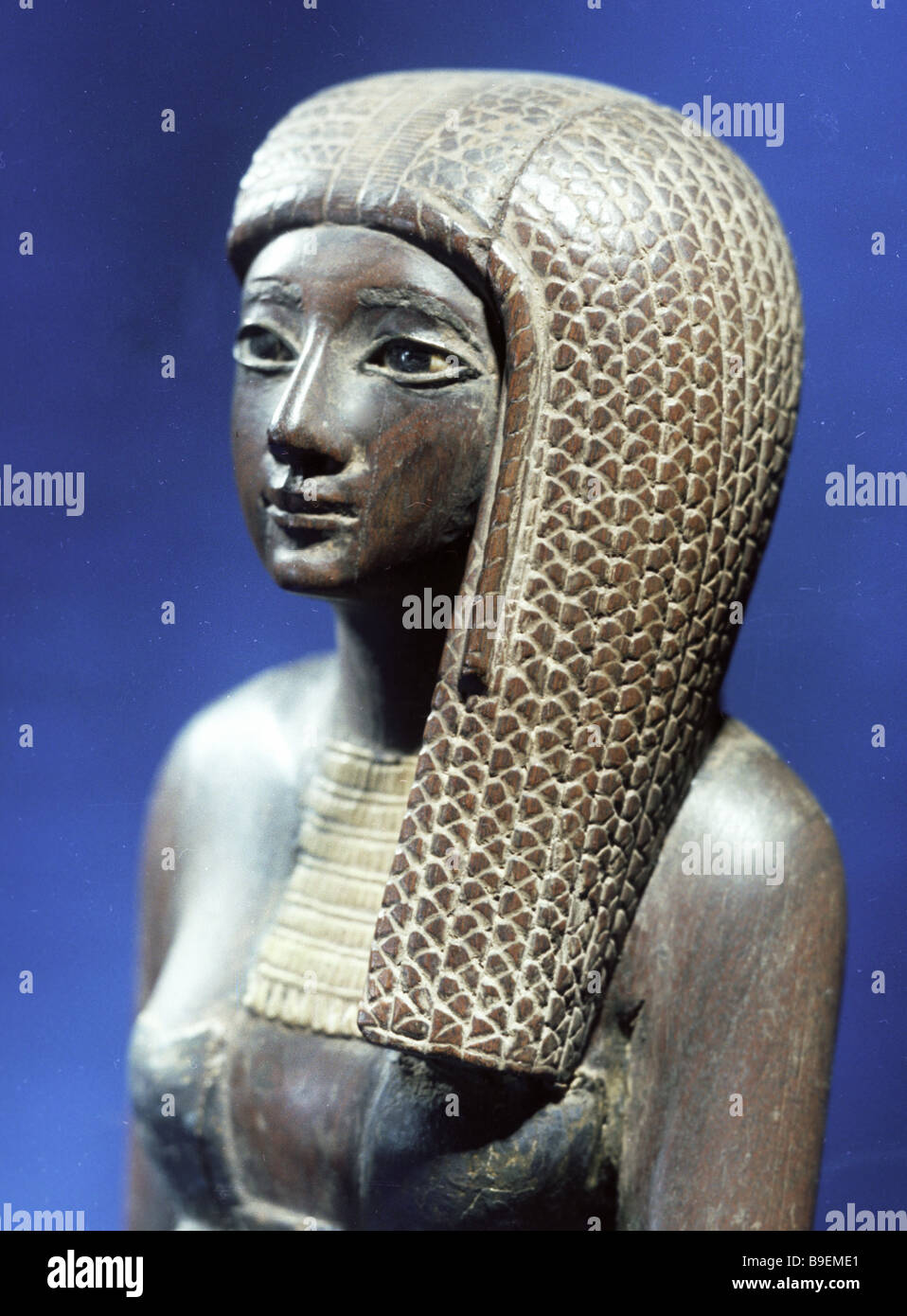 The priestess Rannai Ebony Egypt end of the 1st half of the 2nd millennium B C Pushkin State Fine Arts Museum Moscow - Stock Image