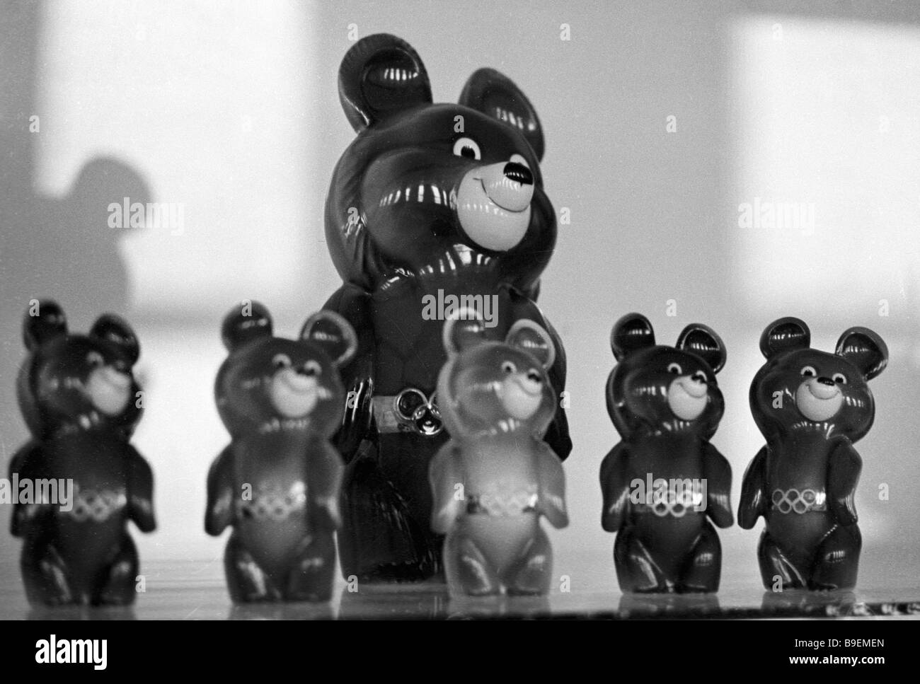 Moscow Olympics 80 bear cub mascot - Stock Image