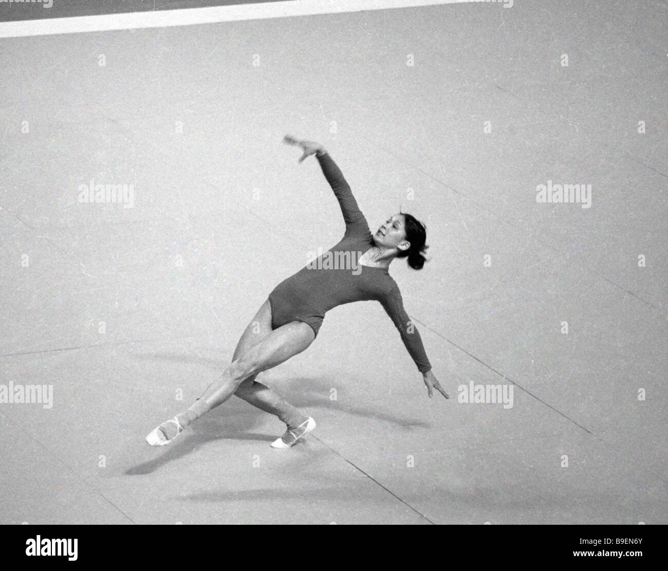 Gymnast Nelli Kim performing during the 21st Olympic Games Montreal - Stock Image