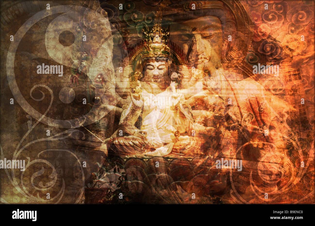 Secret Society Gang Religion as Art Background Stock Photo