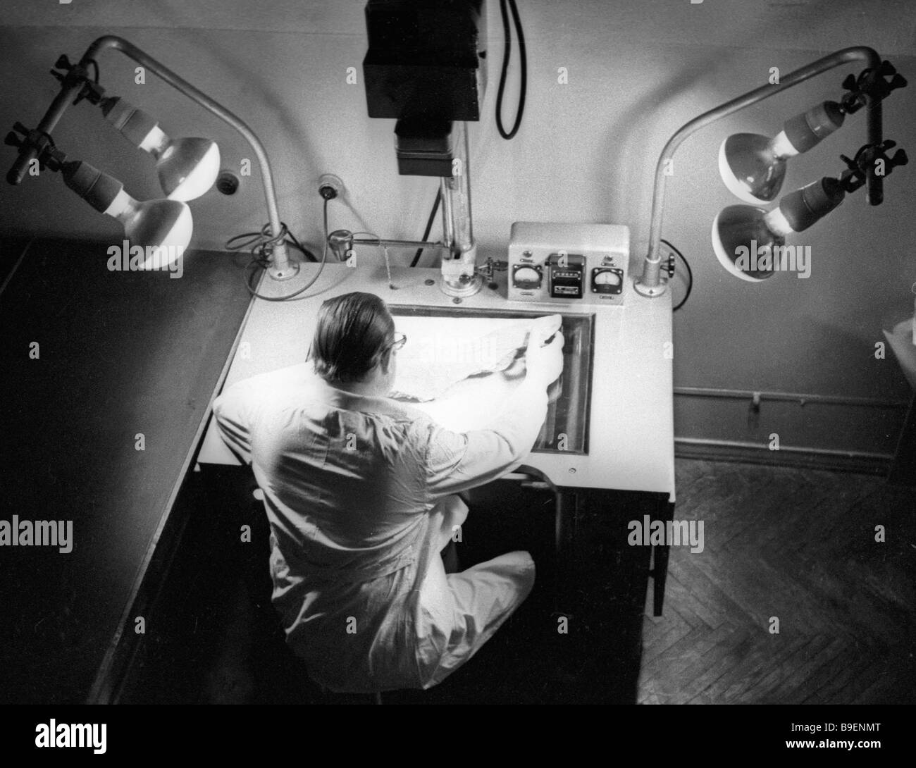 Laboratory Manuals Stock Photos Images Electrical Wiring Lab Manual Assistant Of The Technical Trace And Ballistic Studies Kiev Forensic Research Institute