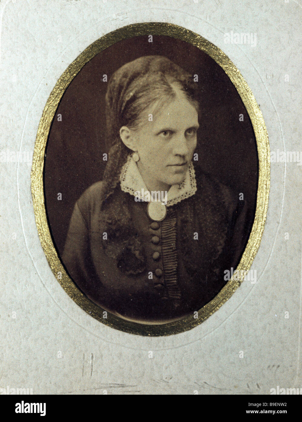 Photograph of Fedor Dostoyevsky s wife Anna Dostoyevskaya from the collection of the Fedor Dostoyevsky Museum Apartment - Stock Image