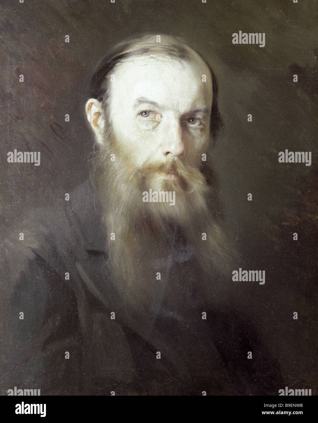 Reproduction of Mikhail Shcherbatov s portrait of Fedor Dostoyevsky from the collection of the Fedor Dostoyevsky - Stock Image