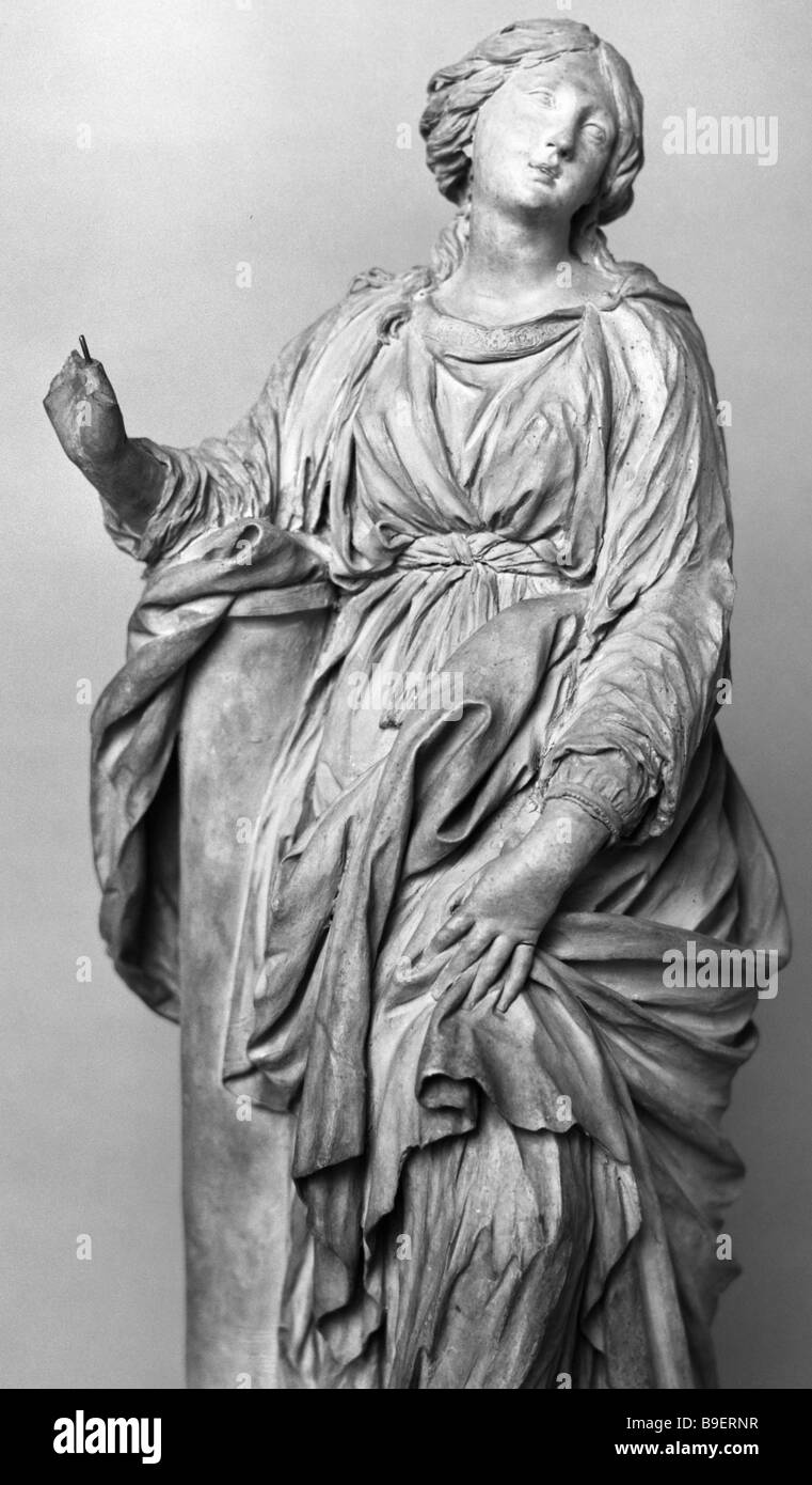 St Bibiana sculpture by Giovanni Lorenzo Bernini terracotta from the collection of the State Hermitage Museum - Stock Image