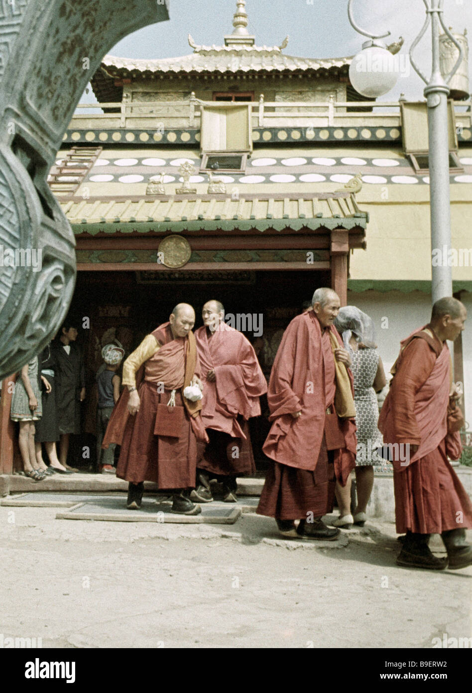 The Lama temple Gandan in Ulan Bator - Stock Image