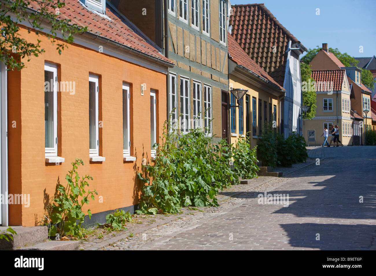 Denmark Odense Overgade and Nedergate H C Andersen birth district Stock Photo