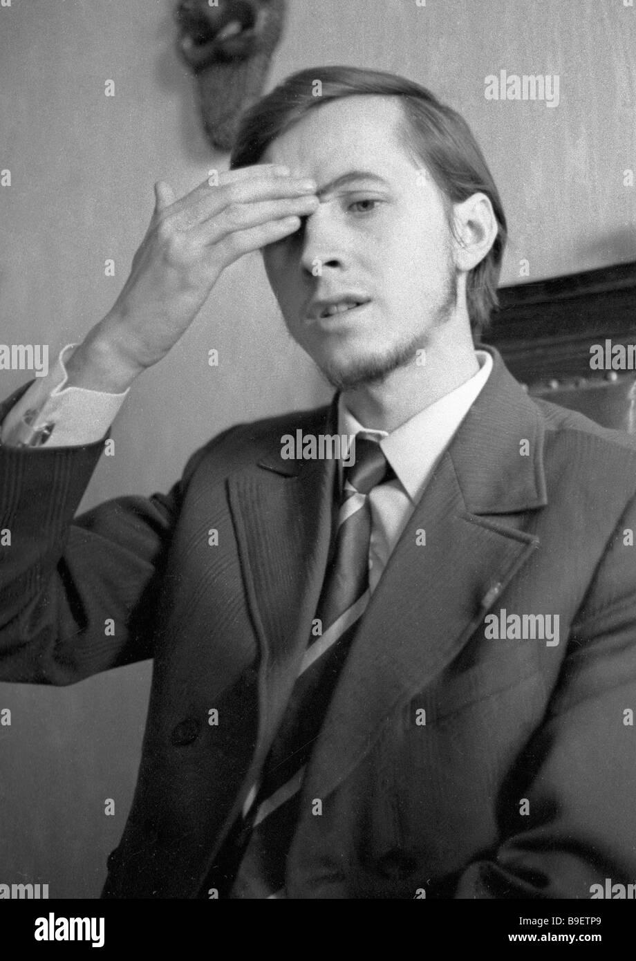 Director and actor Nikolai Burlyaev