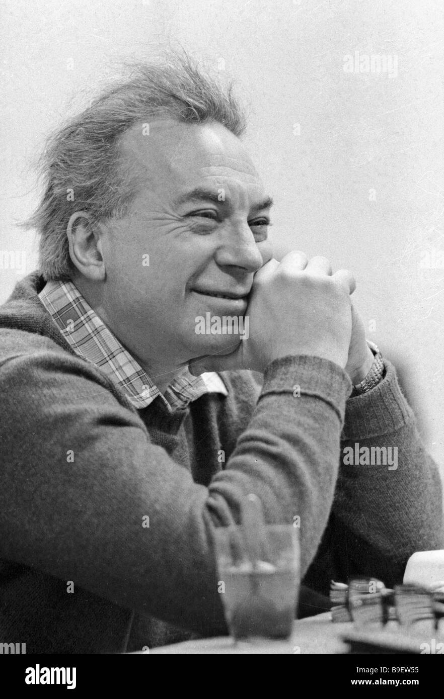 Anatoly Efros director of Moscow s Drama Theater on Malay Bronnaya Street - Stock Image