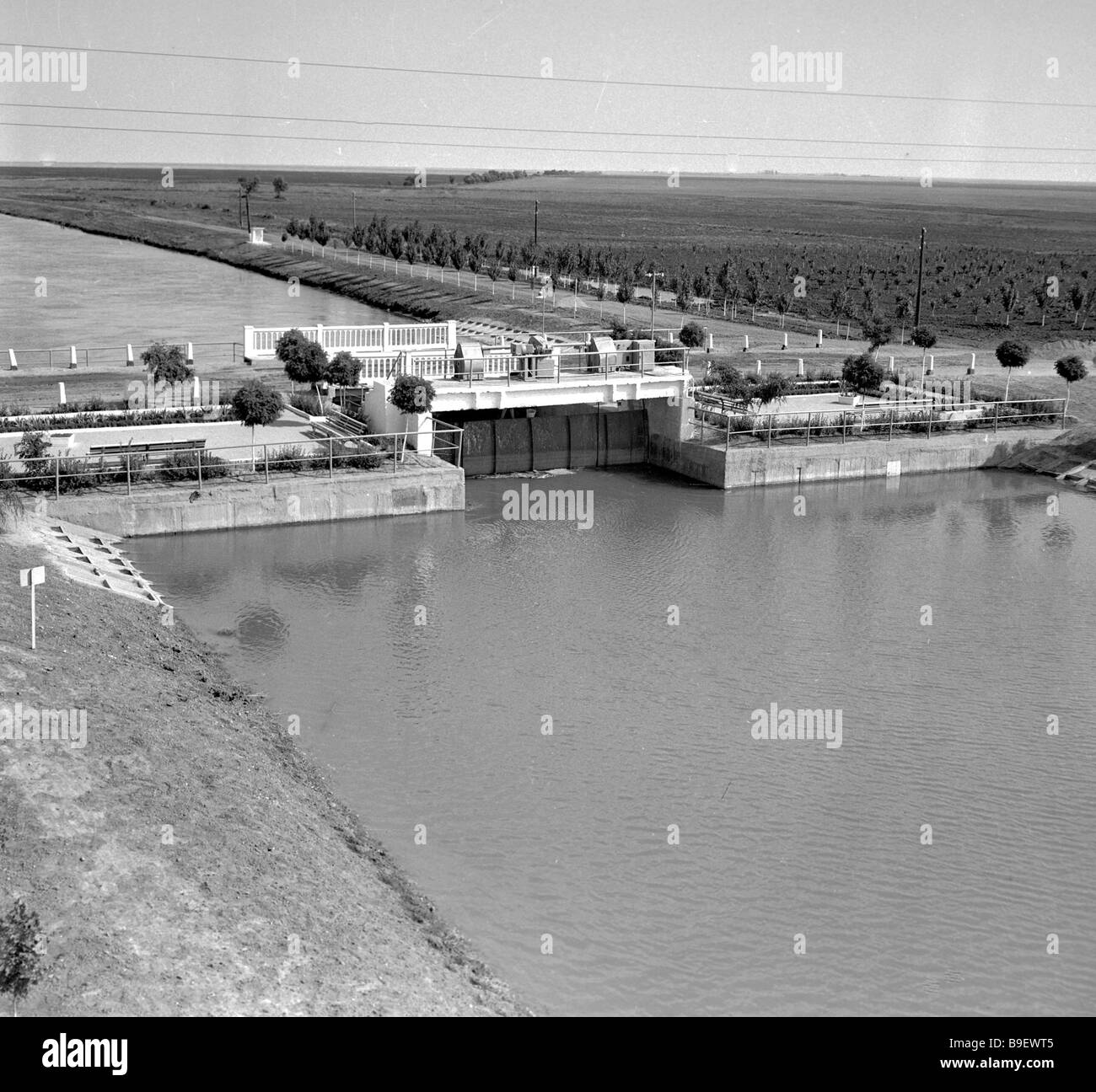 Lock at the North Crimean canal Acuaeducuis - Stock Image