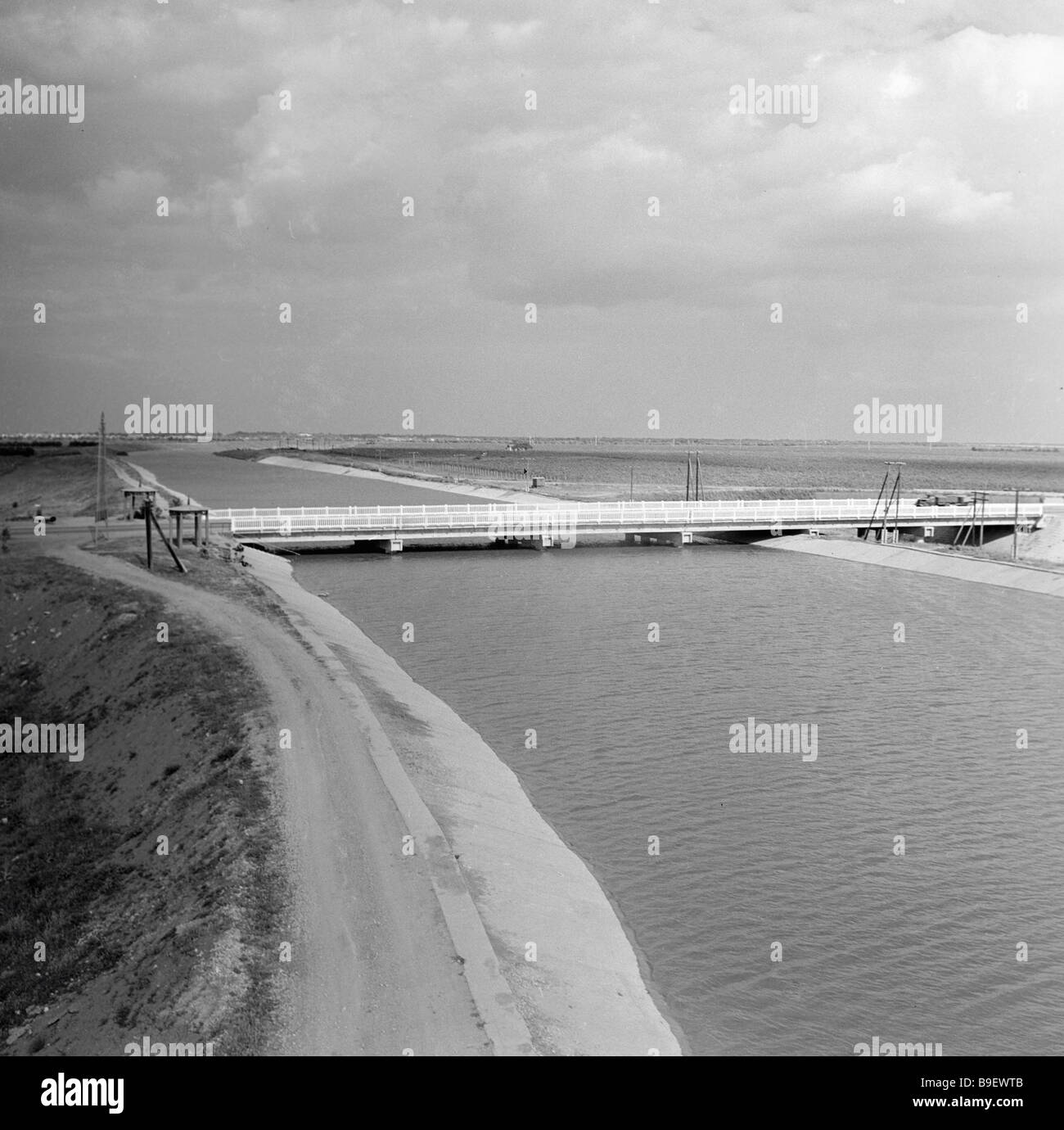 North Crimean canal Aquaeduktus - Stock Image